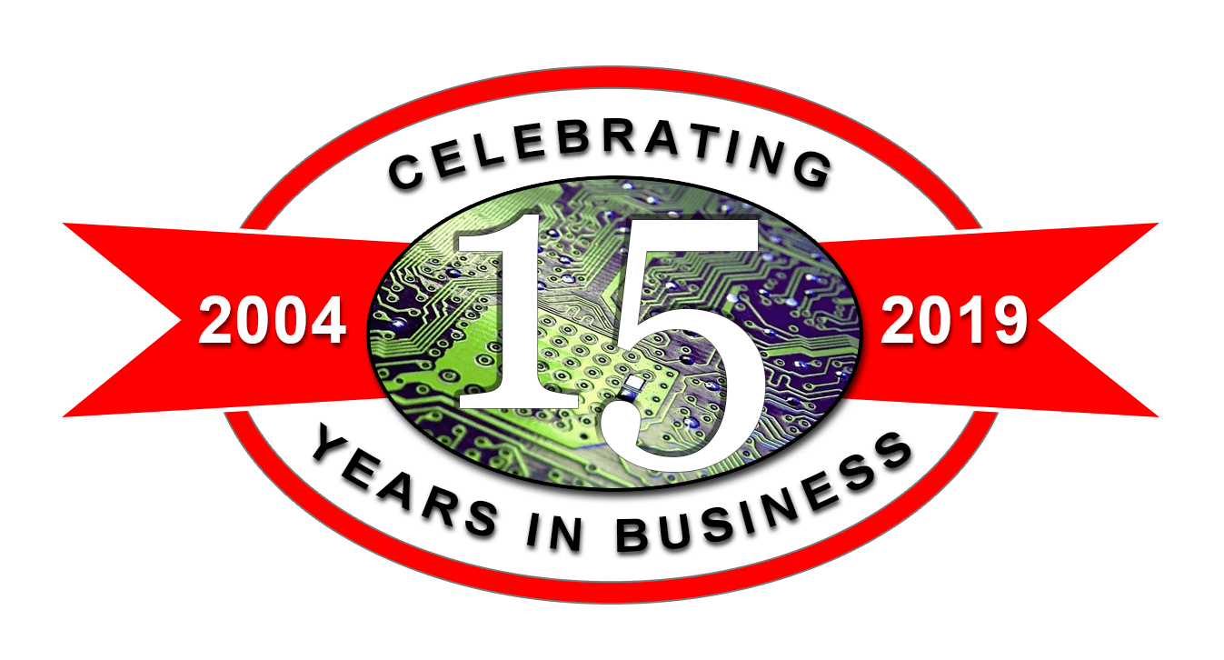 15 years in business logo - oval